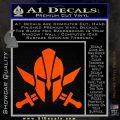 Spartan Crossed Swords D9 Decal Sticker Orange Vinyl Emblem 120x120