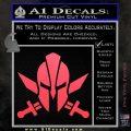 Spartan Crossed Swords D9 Decal Sticker Pink Vinyl Emblem 120x120