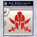 Spartan Crossed Swords D9 Decal Sticker Red Vinyl 120x120