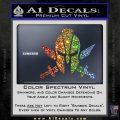 Spartan Crossed Swords D9 Decal Sticker Sparkle Glitter Vinyl 120x120