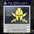 Spartan Crossed Swords D9 Decal Sticker Yelllow Vinyl 120x120