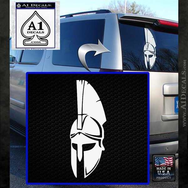 Spartan Decal Sticker D5 White Emblem