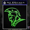 Spartan Decal Sticker Profile Lime Green Vinyl 120x120