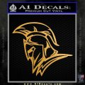 Spartan Decal Sticker Profile Metallic Gold Vinyl 120x120