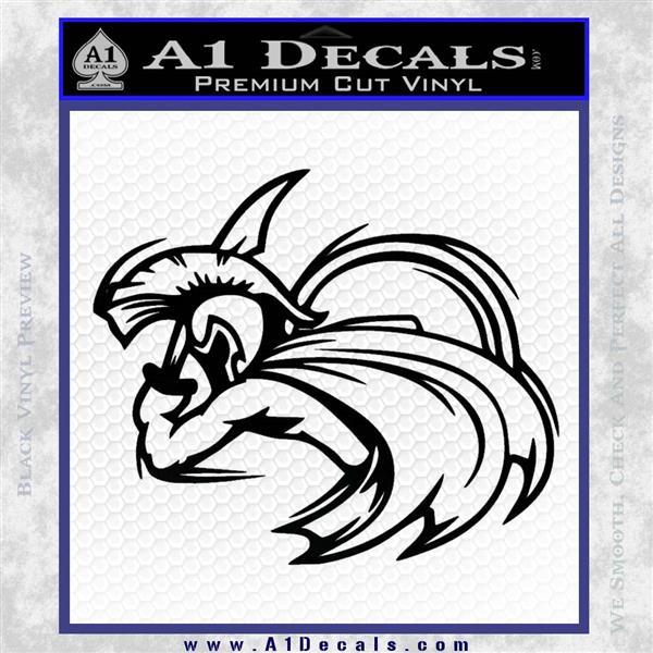 Spartan Fighter Decal Sticker SWSW Black Logo Emblem