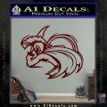 Spartan Fighter Decal Sticker SWSW Dark Red Vinyl 120x120