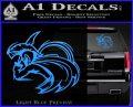 Spartan Fighter Decal Sticker SWSW Light Blue Vinyl 120x97
