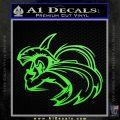 Spartan Fighter Decal Sticker SWSW Lime Green Vinyl 120x120