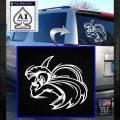 Spartan Fighter Decal Sticker SWSW White Emblem 120x120
