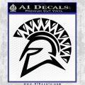 Spartan Helmet D13 Decal Sticker Black Logo Emblem 120x120