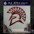 Spartan Helmet D13 Decal Sticker Dark Red Vinyl 120x120