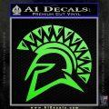 Spartan Helmet D13 Decal Sticker Lime Green Vinyl 120x120