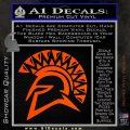 Spartan Helmet D13 Decal Sticker Orange Vinyl Emblem 120x120
