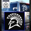 Spartan Helmet D13 Decal Sticker White Emblem 120x120