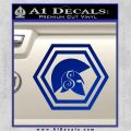 Spartan Helmet Hex Decal Sticker Molon Labe Blue Vinyl 120x120