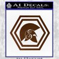 Spartan Helmet Hex Decal Sticker Molon Labe Brown Vinyl 120x120