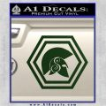 Spartan Helmet Hex Decal Sticker Molon Labe Dark Green Vinyl 120x120