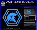 Spartan Helmet Hex Decal Sticker Molon Labe Light Blue Vinyl 120x97