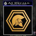 Spartan Helmet Hex Decal Sticker Molon Labe Metallic Gold Vinyl 120x120
