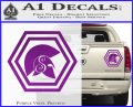 Spartan Helmet Hex Decal Sticker Molon Labe Purple Vinyl 120x97