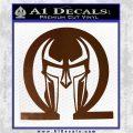 Spartan Omega Helmet Decal Sticker Brown Vinyl 120x120