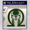 Spartan Omega Helmet Decal Sticker Dark Green Vinyl 120x120