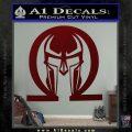 Spartan Omega Helmet Decal Sticker Dark Red Vinyl 120x120