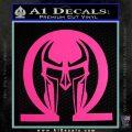 Spartan Omega Helmet Decal Sticker Hot Pink Vinyl 120x120