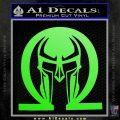 Spartan Omega Helmet Decal Sticker Lime Green Vinyl 120x120