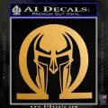 Spartan Omega Helmet Decal Sticker Metallic Gold Vinyl 120x120