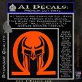 Spartan Omega Helmet Decal Sticker Orange Vinyl Emblem 120x120