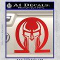 Spartan Omega Helmet Decal Sticker Red Vinyl 120x120