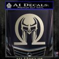 Spartan Omega Helmet Decal Sticker Silver Vinyl 120x120