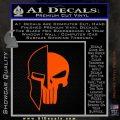 Spartan Punish Helmet Decal Sticker DM Orange Vinyl Emblem 120x120