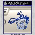 Spartan Warrior Attack Decal Sticker Blue Vinyl 120x120