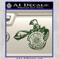 Spartan Warrior Attack Decal Sticker Dark Green Vinyl 120x120