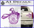 Spartan Warrior Attack Decal Sticker Purple Vinyl 120x97