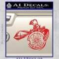 Spartan Warrior Attack Decal Sticker Red Vinyl 120x120