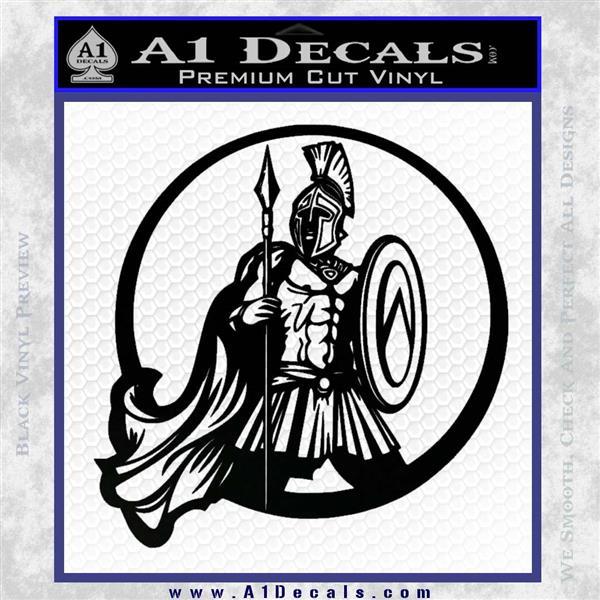 Spartan Warrior CR5 Decal Sticker Black Logo Emblem