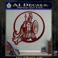 Spartan Warrior CR5 Decal Sticker Dark Red Vinyl 120x120