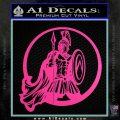 Spartan Warrior CR5 Decal Sticker Hot Pink Vinyl 120x120