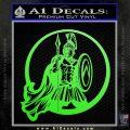 Spartan Warrior CR5 Decal Sticker Lime Green Vinyl 120x120