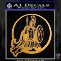 Spartan Warrior CR5 Decal Sticker Metallic Gold Vinyl Vinyl 120x120
