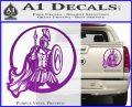 Spartan Warrior CR5 Decal Sticker Purple Vinyl 120x97
