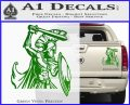 Spartan Warrior D14 Decal Sticker Green Vinyl 120x97