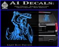 Spartan Warrior D14 Decal Sticker Light Blue Vinyl 120x97
