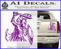 Spartan Warrior D14 Decal Sticker Purple Vinyl 120x97