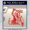 Spartan Warrior D14 Decal Sticker Red Vinyl 120x120