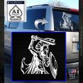 Spartan Warrior D14 Decal Sticker White Emblem 120x120