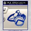 Spartan Warrior D4 Decal Sticker Blue Vinyl 120x120